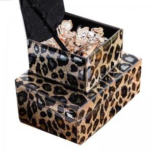Boîte à bijoux créative faite main InsFashion pour le décor moderne et luxueux