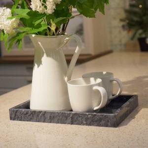 Plateau en marbre naturel InsFashion elegent and premium rectangle pour une décoration de style japonais et une pose contrôlée