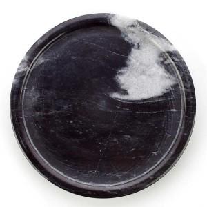 Plateau de marbre rond noir et blanc de style InsFashion pour la boutique de célébrités Web de dessert de style nordique
