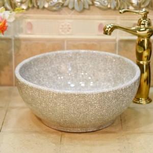 Céramique Green Crack Petit 30CM lavabo évier lavabo lavabo comptoir en céramique lavabo mini