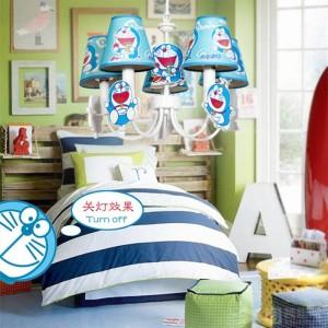 """La lampe pendante de cosplay de la lumière de DORAEMON pour la chambre d'enfants 19 """"bleue a mené Lamparas la chambre à coucher de bébé princesse a mené les lumières pendantes"""