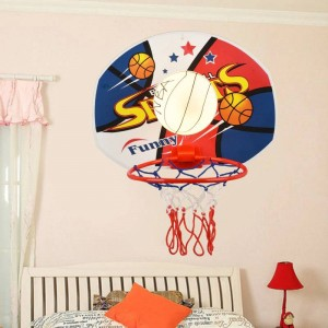 Maternelle Basket-ball lampe murale luminaire pour Salle À Manger kid Chambre Chambre Lampe enfants chambre net Mur Lampe En Verre applique murale