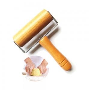 Cuisine En Bois Rouleau À Rouleau Avec Poignée Fondant Gâteau Décoration Pâte Rouleau De Cuisson Cuisson Outils Cuisine Accessoires 1 pcs