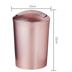 Grande Capacité 10L Style Européen Durable Poubelle En Plastique Poubelle Avec Couvercle Salle De Bains Cuisine Poubelles Fournitures