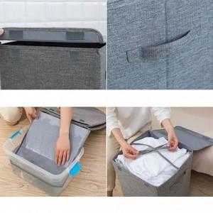 Grand lavable Sale Vêtements Panier De Rangement Ménage Simple De Stockage Panier À Lessive Chambre Vêtements De Rangement Seau Pliable