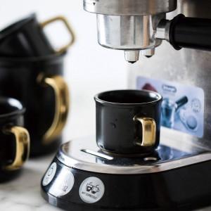 Lekoch 500 ml noir tasse de café en céramique avec de l'or poignée de voyage tasse de thé thé chaleur tasse pour la cuisine à domicile Drinkware accessoires
