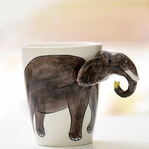 Lekoch Animal Tasse À Café En Céramique 3D Peint À La Main Blanc Mignon Chien Cerf Tasse 400ml Thé Tasse De Lait Pour La Fête D'anniversaire Cadeau De Noël