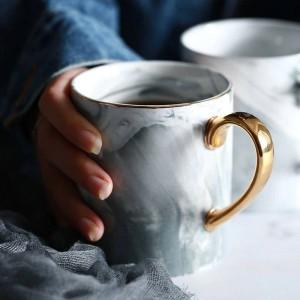 Lekoch européen marbre grain Phnom Penh tasses Couple amant & # 39s cadeau matin tasse café au lait thé thé tasse en porcelaine pour cadeau