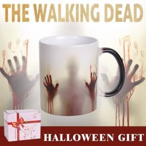 Lekoch The Walking Dead Céramique Tasse À Café Couleur Changeante Tasse À Café Sensible À La Chaleur Sanguine Mains Tasses À Thé Design pour Halloween Jour Cadeau