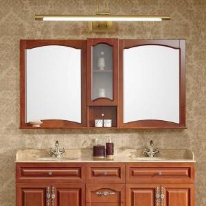 Cuivre Miroir Phares Salle De Bains Américaine LED Armoire Lampe Nordic Maquillage Hanglamp Maison Déco Applique Murale