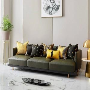 Luxe Abeille Broderie Coussin Couverture Coussin Femmes Pour La Maison Noir Or Coussins Couvre Cojines Decorativos Para Sofa Coussin