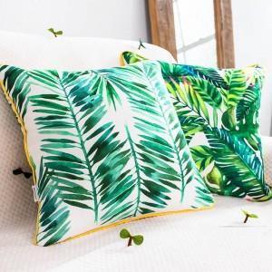 Couverture de coussin de marque de luxe plante tropicale feuille Flamingo oreillers décoratifs cas Almofadas Cojines canapé maison voiture couvre