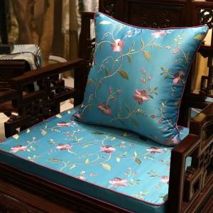 Charme de luxe broderie couverture de coussin de vignes Blooming Design Capa de Dlmofada canapé voiture literie décorative plante Throw Taie d'oreiller