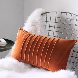 Housse de coussin de luxe en velours rayures généreuses oreillers décoratifs cas Almofadas Cojines canapé chambre modèle essentiel de voiture couvre