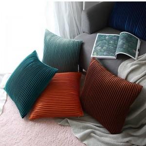 De luxe Velvet Housse De Coussin Rayé 3D Oreillers Décoratifs Plissés Cas Almofadas Cojines Canapé Modèle Chambre Essential Couvre Voitures