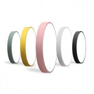 macaron plafonnier rond couleurs fer corps de la lampe acrylique abat-jour hall enfants chambre plafonnier LED luminaire Promotion