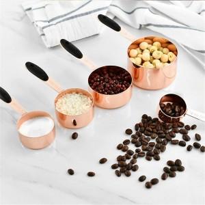 Cuillère À Mesurer Cuillère À Café En Acier Inoxydable De Grains De Café En Poudre Farine Cuillère Avec Poignée Durable Cuisson Cuillère Cuisine Outil Set 5 PCS