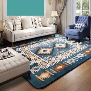 Couverture méditerranéenne, salon, chambre à coucher, chevet, recouvert d'une couverture pour table à thé, couverture rectangulaire minimaliste moderne