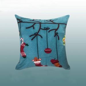 Joyeux Noël Coussin Couverture De Luxe Or Broderie Coussins Cojines Décoratif Para Canapé Décorations Pour La Maison Festival