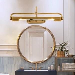 Le cuivre de miroir a mené le maquillage léger a mené la longue lampe de mur de projecteur pour le vestiaire de lampe de mur de chevet de couloir de miroir de salle de bains