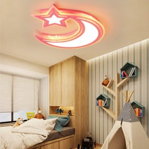 Plafonniers modernes blanc bleu rose couleur Pour les garçons et les filles Chambre plafond lampe plafonnier Luminaires