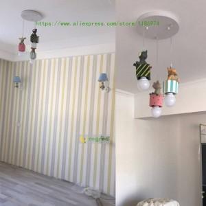 Moderne Chambre d'enfants Led American enfants lampes garçon fille Cartoon chambre lampe E27 Lumière pendante éclairage décoration de Noël