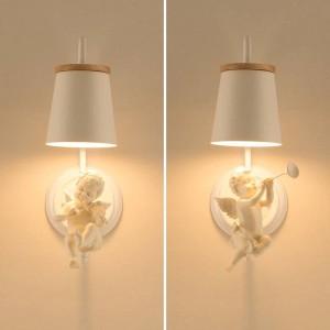 Moderne Led Ange Applique Enfants lampe Articulations Nordic Éclairage Lampes De Chambre Bureau De Mariage Bureau Led Lumières Lampe De Chevet