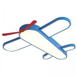 Plafonniers menés modernes pour la chambre à coucher à la maison Chambre à coucher d'enfants garçons filles avion de bande dessinée plafonnier avec à distance obscurcissant la lampe de plafond