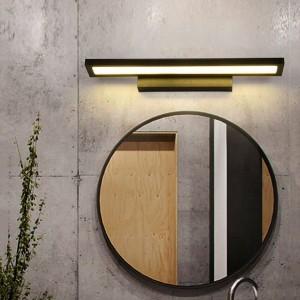 La lumière moderne de miroir mené AC90-260V LED de mur de LED a monté la lampe de mur industrielle montée de mur accrochant l'acier inoxydable imperméable