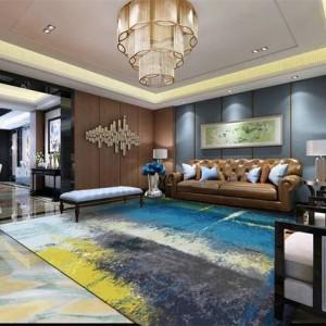 Tapis abstrait minimaliste moderne salon table basse tapis tapis tapis personnalisé rectangulaire nordique