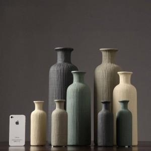 Moderne Minimaliste En Vase En Céramique À La Mode Arrangement De La Fleur Décoration de La Maison Salon Salle Végétarien Décoration