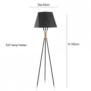 Lampadaire minimaliste moderne lampadaires noir pour salon lecture éclairage loft fer triangle étage lumière