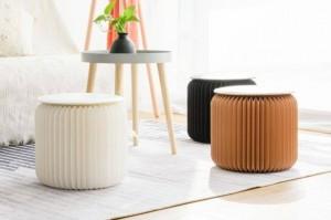 Chaise basse de tabouret de structure de nid d'abeilles compacte, robuste et portative de papier moderne