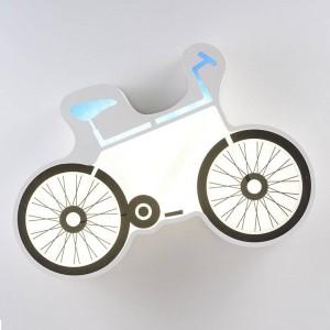 Moderne Simple plafonniers LED Vélo blanc plafonnier monté lampe chambre enfant créatif LED surface monté luminaire