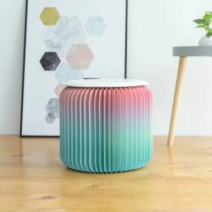 Tabouret moderne design de papier de chaise pliante-mode avec 1 coussin en cuir multifonctionnel pour l'école, la cuisine, le salon et la salle à manger