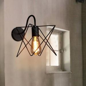 Lampes murales Vintage Vintage Loft en fer noir métal triangle cage abat-jour style de pays applique murale luminaire couloir couloir