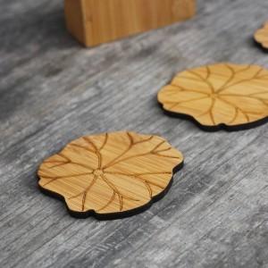 Bambou naturel boisson dessous de verre ensemble Creative napperon tasse tapis pad tasses à café porta copos décoration de la maison soucoupe isolation