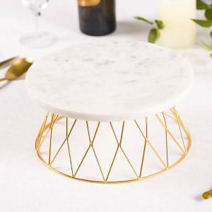 Plateau en marbre naturel plateau de pain coupe table de salle à manger décoration de table ornement