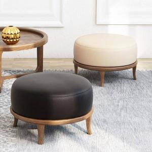 Tabouret fort en bois massif naturel, articles d'ameublement créatifs, style simple, tabouret de salon, petite table de coin, tabouret de salle à manger