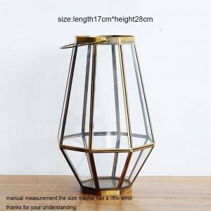 Bougeoir néoclassique en verre aux chandelles Dîner Nuit Lumière Vent léger Aromathérapie Bougie Base Ménage Décoration Artisanat