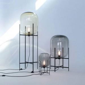 Abat-jour en verre lampe de table simple créatif lumière de bureau corps noir nouveau magasin de décoration de la maison table de chevet