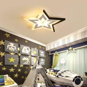 Nouveau plafond moderne étoiles / lune / nuages pour chambre à coucher luminaria de teto Lampes de plafond blanches / noires