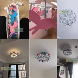 Nouveau Trojan LED Plafonniers Garçons et Filles Princesse Lampe de chambre d'enfants Luminaires de la chambre Luminaires de Bande Dessinée Créatifs