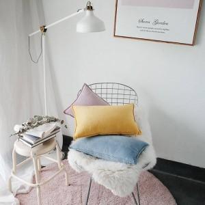 Noble Velet Imprimé Housse de Coussin Designer Luxe Coussins Décoratifs Cas Almofadas Cojines Canapé Solide Bleu Jaune Couvertures De Voiture