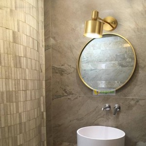 Nordique En Laiton Lecture Lanterne Murale Moderne D'or Soie Allée Chambre Lampe De Chevet Maquillage Miroir Lampes Appliques Murales Pour La Maison
