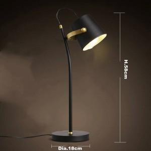 Nordic Brief moderne lampe de table Creative bureau lumière fer art noir E27 led lampe étude chambre luminaire à la maison lampe de lecture