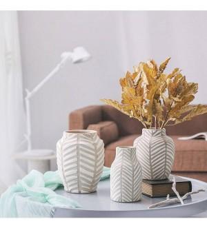 Nordique Vase En Céramique Moderne Européen En Argile Pot Fleur Tv Cabinet Salon Salle À Manger Décoration de La Maison Ornements
