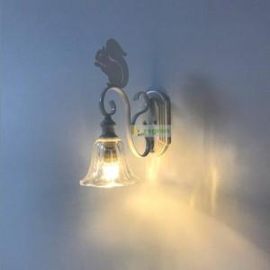 Applique murale nordique écureuil mignon créatif personnalité moderne enfants Appliques murales escalier allée lampes en fer forgé led