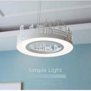 Nordic lampes suspendues pour chambre d'enfant maison moderne créative led pendentif lumière chambre d'enfants led chambre princesse abat-jour