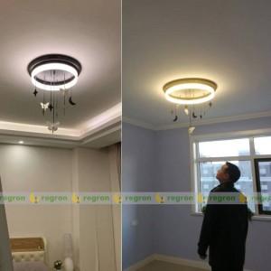 Plafonnier Nordic LED AC85-265V moderne créatif Angel Moon chambre d'enfants plafond rond Lumière chambre décoration lumières